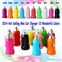 Car Chargers Universal For US 100X For Iphone7 USB Car Charger Colorful Bullet Mini Car Charge Portable Charger Universal Adapter For Iphone 5 5S DHL Free Shipping L-SC