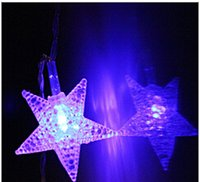 best party spots - Best Selling LED spots star string lights Christmas String Light AC RGB LED Xmas Tree Light for Party Outdoor Holiday Wedding Decoration