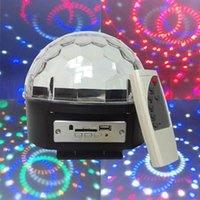 Wholesale stage light Disco DJ Party Stage Light Auto Voice activated LED Crystal Magic Ball with MP3 Player with Remote control U disk