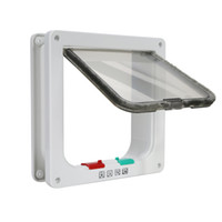 Wholesale White ABS Way Magnetic Secuarity Lockable CAT Dog Pet Supply Flap Door