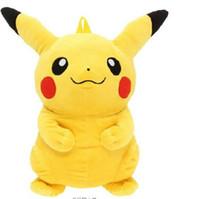 Wholesale 2016 new poket monster Children backpack Poke Go Cartoon Schoolbag Kids Backpack Pikachu Toy pack