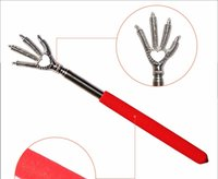 bear claw clip - 2016 New Practical Handy Stainless Pen Clip Back Scratcher Telescopic Pocket Scratching Massage Kit Bear claw back scratcher