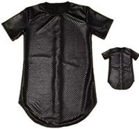 Wholesale Men Summer Gold side zipper Snakeskin Tyga pyrex ktz Black Kaviar short Sleeve t shirt Leather men hip hop clothing Kanye Tee