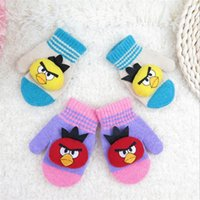 baby mittens knitting - Children Gloves Knitted Cartoon Winter Kids Gloves Cute Baby Mittens Warm Boys Girls Gloves etst a16