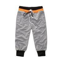 activewear capri - Men s Casual Elastic Waist Solid Outdoor Sports Trousers Male Running Activewear Comfortable Sportwear Capri Pants Size M XXL