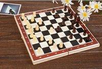 Wholesale Folding King s European International Chess Wooden Wood Game Set