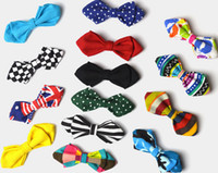 Wholesale Fashion Bowtie Boys Tie Bow Ties Pinned For Kids Boy Toddler Neck Bowtie Shirt Banquet Tie for Party multi color