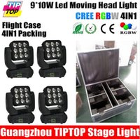 audience lights - Flight Case in1 Pack X10W RGBW IN1 Led Beam Moving Wash Light Big Lens Audience Background Washer Light Auto Sound active DMX