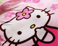 Wholesale ome Textile Blanket cm Hello Kitty Coral Fleece Bed Blanket Cobertor Mantas Bath Plush Towel Air Condition Sleep Cover Bedding Brin