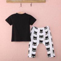 Wholesale 2015 New Brand Newborn Baby Boy Clothes Short Sleeve T shirt Batman Pants Outfits Set Mths
