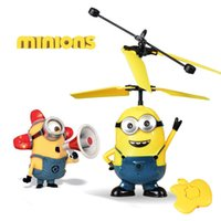 Wholesale Children s toys Remote Control Toy Aircraft Induction Charging Electric Aircraft Shatterproof small yellow people