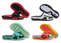 air shower room - New Arrive Color Lebrons Air Slide Elite South Beach Laser Crimson Cushion Summer Slippers Sandals Mens size