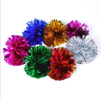 Wholesale Game Pompoms Cheering Pom Pom Hand Flower High Quality Cheerleading Supplies Color Dancing Sports Festive Party Supplies Sale