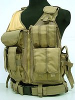 Wholesale Nylon Military Tactical Vest Outdoor Trekking Vest Army Combat Paintball Safety Vest Hunting Men Airsoft CS Vest
