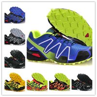 barefoot skiing - Cheap Men Salomons Speedcross Outlet Mens Hiking Running Shoes Barefoot Sports Shoes Zapatillas Newest Style Eur