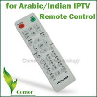 Vente en gros-1piece Potable IPTV à télécommande avec télécommande à haute vitesse pour arabe IPTV Box Android 4.4 TV Box