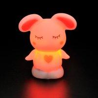 Wholesale Romantic Color Changing LED Night Light Room Decoration Candle Lamp Nightlight Love rabbi GM369