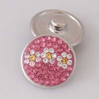 ad rhinestones - Hot sale KB2407 AD Beauty Flowers rhinestone MM snap buttons for DIY ginger snap bracelets Accessories charm jewelry