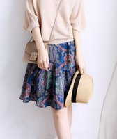 bias cut skirt - Retro Totem silk bias cut skirts