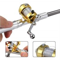 Wholesale 2016 pc New Mini Portable Pocket telescopic Fish Pen Aluminum Alloy Fishing Rod Pole Reel Four Colors