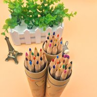american art supplies - European and American models of child gift nontoxic color pencil sketch drawing color lead students school supplies