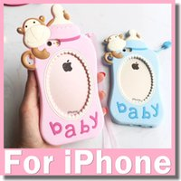 baby monkey blue - Fashion D Cartoon Cute Monkey Baby Milk Bottle Silicone Cover Case For iPhone s Plus s Plus Silicon Case Shell