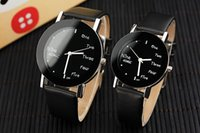 acrylic words - Hot Womens English Words Watches Korean Wrist Watch For Boys Girls Leather Straps Watch Bands Quartz Watches