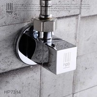 Wholesale Han Pai Brass Hot and Cold Triangular Valve for Hot and Cold Faucet Water Mixer Tap Filling Angle Valves HP7314