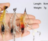 Wholesale 2016 Hot Sale Shrimp bait simulation soft bait shrimp luminous culter Bionic bait fish freshwater marine General