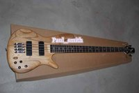 Wholesale Custom Shop String Jazz bass Electric Bass Guitar beautiful brown High Quality Best selling gold part headcase