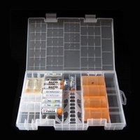 Wholesale High Quality Rack Transparent AAA AA C D V Hard Plastic Battery Case Holder Storage Box Battery Container