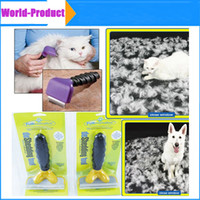 Wholesale Dog Brush Grooming Yellow Long Hair Short Hair Expert deshedding Edge Designer inch DHL Free