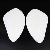 abs pads - Motorcycle Transparent White Tank Traction Pad Side Gas Knee Grip Protector FORHonda CBR600 RR CB400 Anti Slip Fuel Sticker