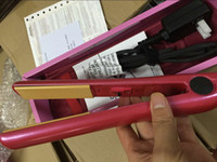 Wholesale Hot Classical Pink Dazzle Hairstyling Flat Iron with Retail Box With Logo Discount price top quality DHL