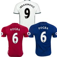 Wholesale Top Thai Manchester Jersey POGBA Mata MEMPHIS MARTIAL SCHWEINSTEIGER IBRAHIMOVIC Soccer Jerseys home EPL away third White Shirts Kit