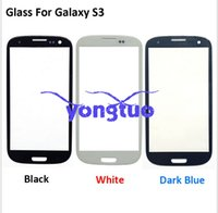 Wholesale Front Glass Lens Front Screen For Samsung Galaxy S3 i9300 Lcd Screen with LOGO for Samsung Replacement For SamsungS3 touch panel