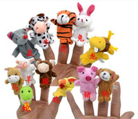 animal group games - Finger Toys Fashion Baby Plush Toy Finger Puppets Talking Props Animals Group Set Family Games Teaching Props SDB1004