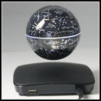 Livraison gratuite de DHL Nouveaux cadeaux d'anniversaire de Noël 3inch Globe flottant magnétique électronique créatif de levitation pour la maison