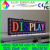 Wholesale y led Sign panel Indoor Board P5 full colorLED Scrolling Message Display