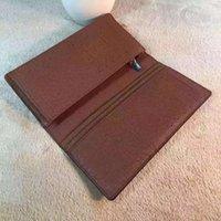 bi box - 2016 New Fashion Men s Genuine Leather Men Bi Fold Wallets Famous Brand Luxury Women Card Holder Long Wallet Mens purse Box