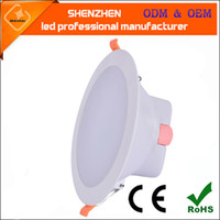 Wholesale New arrival Recessed Downlight inch inch LED ceiling light white shell warm white cold white AC85 V anti glare panel led downlights