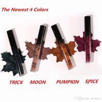 Wholesale Pre sell Kylie Cosmetics Lip Kit Spice Moon Trick Pumpkin Velvetine Liquid Matte Lipstick lipliner in Red Velvet Makeup Huda Gloss