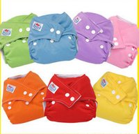 Wholesale 7Colors Washable Nappies Cotton Cloth Diaper Reusable Baby Diapers Cover Free Size Adjustable Fralda Winter Summer Version