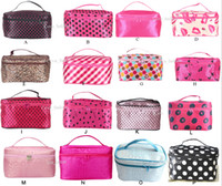 19.5*12*12cm Pack for cosmetics, gifts Zhejiang, China Hot Sale 22 Colors Many Designs Cheap wholesale Women's Travel Makeup quartet cosmetic Bag DHL Free Shipping