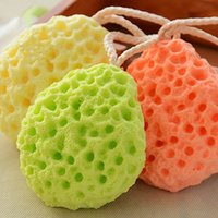 Wholesale 3Color Bath Scrubber Shower Spa Sponge Body Cleaning Scrub Makeup Washing Sponge Cosmetic Puff Bath Ball