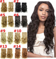 Wholesale Clip in Hair extensions Sexy Long Curly Human Hair extensions Synthetic Hair One Piece Hair extensions Hair