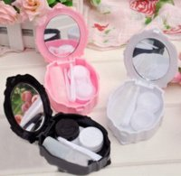 Wholesale New Fashion Rose Contact Lenses Case Girl Contact Lens Box Gift Drop Ship box gift gift boxed