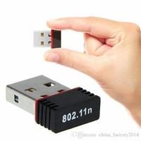 al por mayor adaptador de red inalámbrico externo-2016 Wi-Fi 802.11n Stock de llegada 150 Mbps Mini Wi Fi adaptador USB inalámbrico Wifi External Ethernet Dongle Red Lan tarjeta para Skybox / Laptop