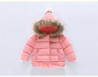 Wholesale 2016 Winter down coat Years Cute Cartoon Mickey Kids Children Baby Girls Snowsit Long Sleeve Hooded Down Coat Cotton Outerwear Clothes
