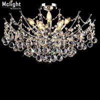 art deco vanity - Luxury Lustre Vanity Crystal Chandelier Light Fixture Chrome Finish LED Ceiling Lamp for Dining Room Restaurant
